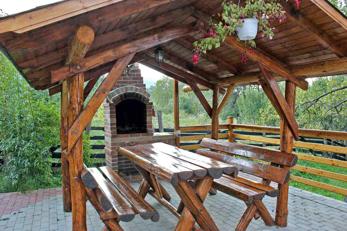 self catering holiday chalet villa transylvania with fireplace