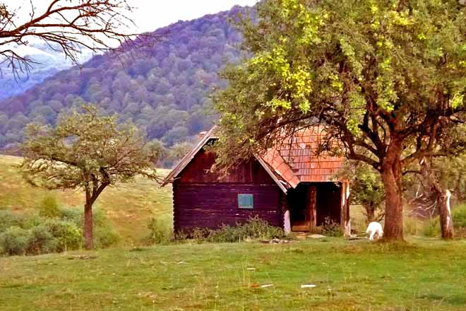 shepherds hut transylvania, holiday mountain shelter in romania