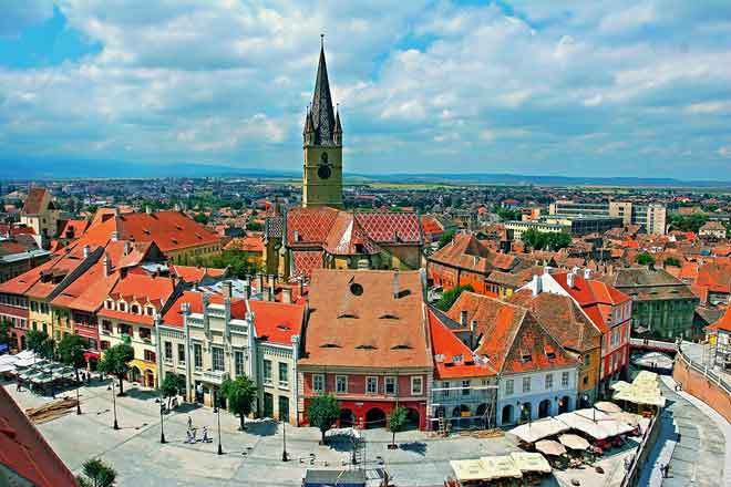 old town sibiu photos, romania attractions